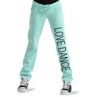 LD1030 : Luv Dance Aquamarine Skinny Sweatpants