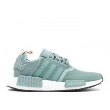 VLX85E Beauty Ticks Adidas Nmd R1 W Teal Vintage White Sport Running Shoes