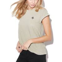 THRILLS DESTROY PALM LOGO TEE ARMY GREEN