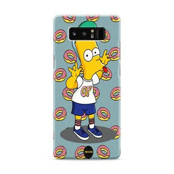 of supreme Bart Simpsons Samsung Galaxy Note 8 Case