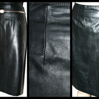 Leather Napa Pencil Skirt Butter Soft