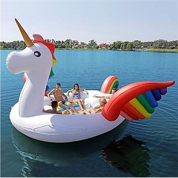 Giant Party Inflatable Float - for 6 Adults (Unicorn/Flamingo)