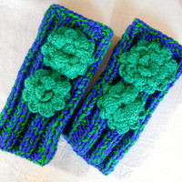 Knitted Gloves,Mittens,Multicolour,Glove,Hand Warmer,Winter Glove,Flowers Glove,Knitted Glove,Women Glove,Arm Warmers,Gift Ideas