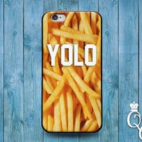 iPhone 4 4s 5 5s 5c 6 6s plus iPod Touch 4th 5th 6th Generation Cool Yolo Food Snack French Fries Fry Phone Fun Quote Cover Cute Funny Case