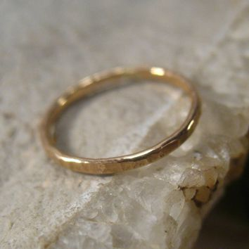 Toe Ring Gold 16g Closed Hammered