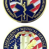 EMS 9/11 Tenth Anniversary Challenge Coin 12 Pack