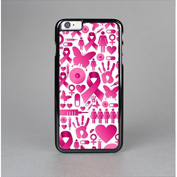 The Pink Collage Breast Cancer Awareness Skin-Sert Case for the Apple iPhone 6 Plus