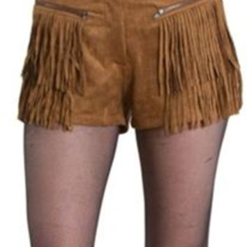 Love Riche Suede Navajo Fringed Shorts LP80189