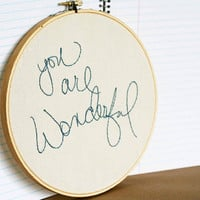 You are wonderful by makenziandmadilyn on Etsy