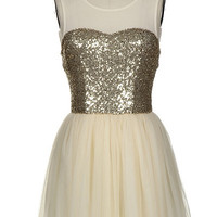 Glittering Gold and Tulle Dress