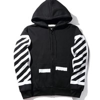 OFF WHITE Hoodies Winter Stripes Hats Jacket [11501027724]