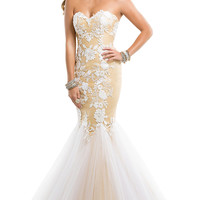 Long Strapless Sweetheart Mermaid Gown