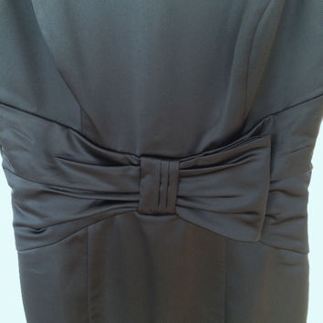 Black Cocktail Dress With Bow (Black House White Market)