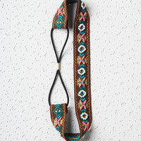 Multicolor Beaded Geo-tribal Embroidery Headband