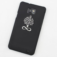 Black Hard Case Cover With Wishing Tree For Samsung Galaxy S2 i9100,Samsung Galaxy S 2 II i9100