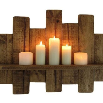 Reclaimed Wood Shelf Candle Holder