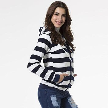 Striped Casual Hoodie