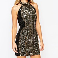French Connection Disco Mirror Sequin Dress