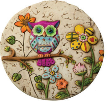 owl stepping stones set of 3 garden accent