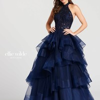 Ellie Wilde EW118048- Navy Blue
