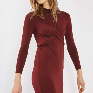 PETITE Twist Front Bodycon Dress - Dresses - Clothing