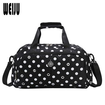 2017 New Hand Luggage Men Travel Bags Dot Printing Travel Bag Women Nylon Traveling Shoulder Bags bolsa de viagem