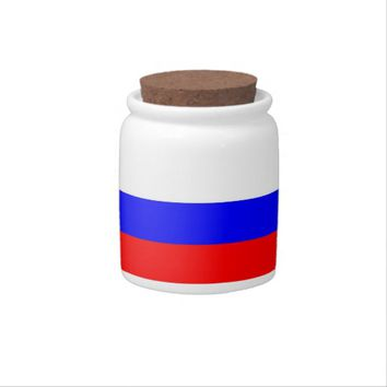Russian Flag on Candy Jar