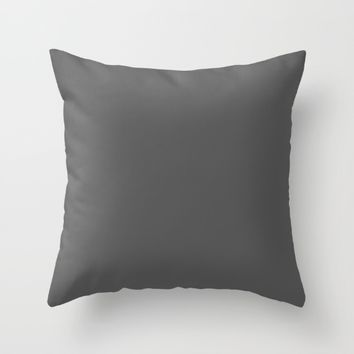 #23 Dark grey Throw Pillow by Minimalist Forms