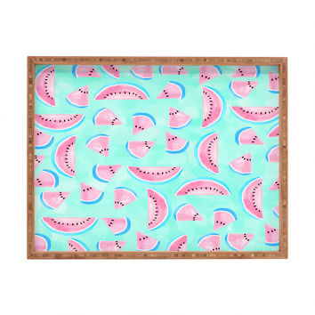 Lisa Argyropoulos Summertime In Aqua Rectangular Tray