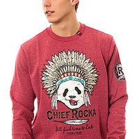 The Chief Rocka Crewneck in Raspberry Heather