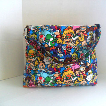 Nintendo Diaper Bag - Diaper Bag - Mario Brothers - Messenger Bag - Nappy Bag - Crossbody - Nintendo Diaper Bag - Cross Body - Laptop Bag