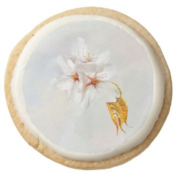 Sakura - Japanese cherry blossom Round Shortbread Cookie