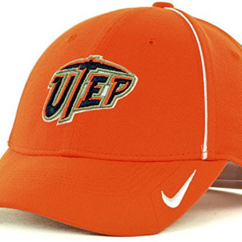 Nike UTEP Miners Coaches Sideline Legacy91 Dri-FIT Velcro Adjustable Cap Hat (One Size, Orange)