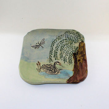 Swan with Willow Tree plate