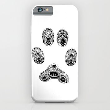 Cat Paw Print iPhone & iPod Case by LouJah