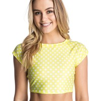 Pop Surf Optic Nature Short Sleeve Rashguard 888256834132 - Roxy