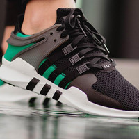 "Fashion ""Adidas"" Equipment EQT Support ADV Black Green Casual Sports Shoes"