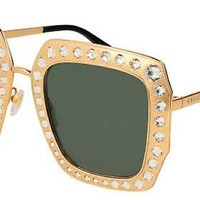 VONW3Q Gucci Sunglasses GG0115S 006 (Gold / Green)