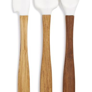 Core Home 3-Piece Silicone & Bamboo Heat Safe Spoon/Spatula Set | Nordstrom