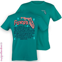 Florida State Home T-Shirt on Tropical Blue