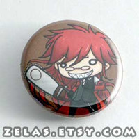 Chibi Anime Button: Black Butler - Grell