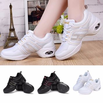 Spring Summer Soft Sole Women Dance Shoes Breathable Gym Sports Sneakers Female Girls Dancing Shoes Mordern/Ballroom/Jazz Dance