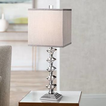 Deco Collection Colonnade Crystal Table Lamp - #Y4757 | Lamps Plus