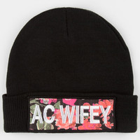Neff Ac Wifey Beanie Black One Size For Women 24531510001