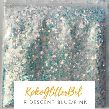 Ice Glitter Flakes- Blue/Pink