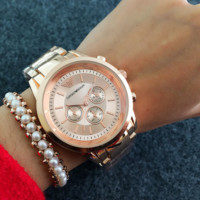 Emporio Armani Ladies Fashion Watch Rose Gold