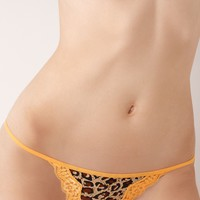 JT Intimates Thong, G String Leopard and Lace 14293LTH - Womens Juniors Panties - Macy's