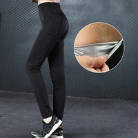 Hot Shapers Slimming Hot Sweat Shaper Women Skinny Pants Thermo Neoprene Sweat Sauna Body Shapers Control Body Shapers