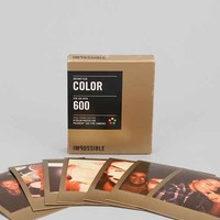 Impossible Gold Frame Color Polaroid 600 Instant Film - Gold One