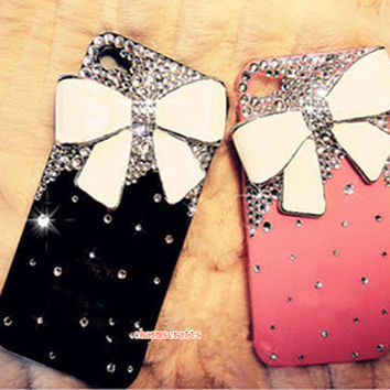 iphone 5c/5s,iphone 3/4/4s/5,Apple ipod 4/5,Samsung Galaxy S3/S4/S4 Active,Samsung Note 1/2/3,Htc One,Blackberry Q10 Z10 Case Bling Bowknot